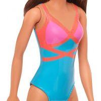 Mattel Barbie v plavkách hnedovláska modroružové 5