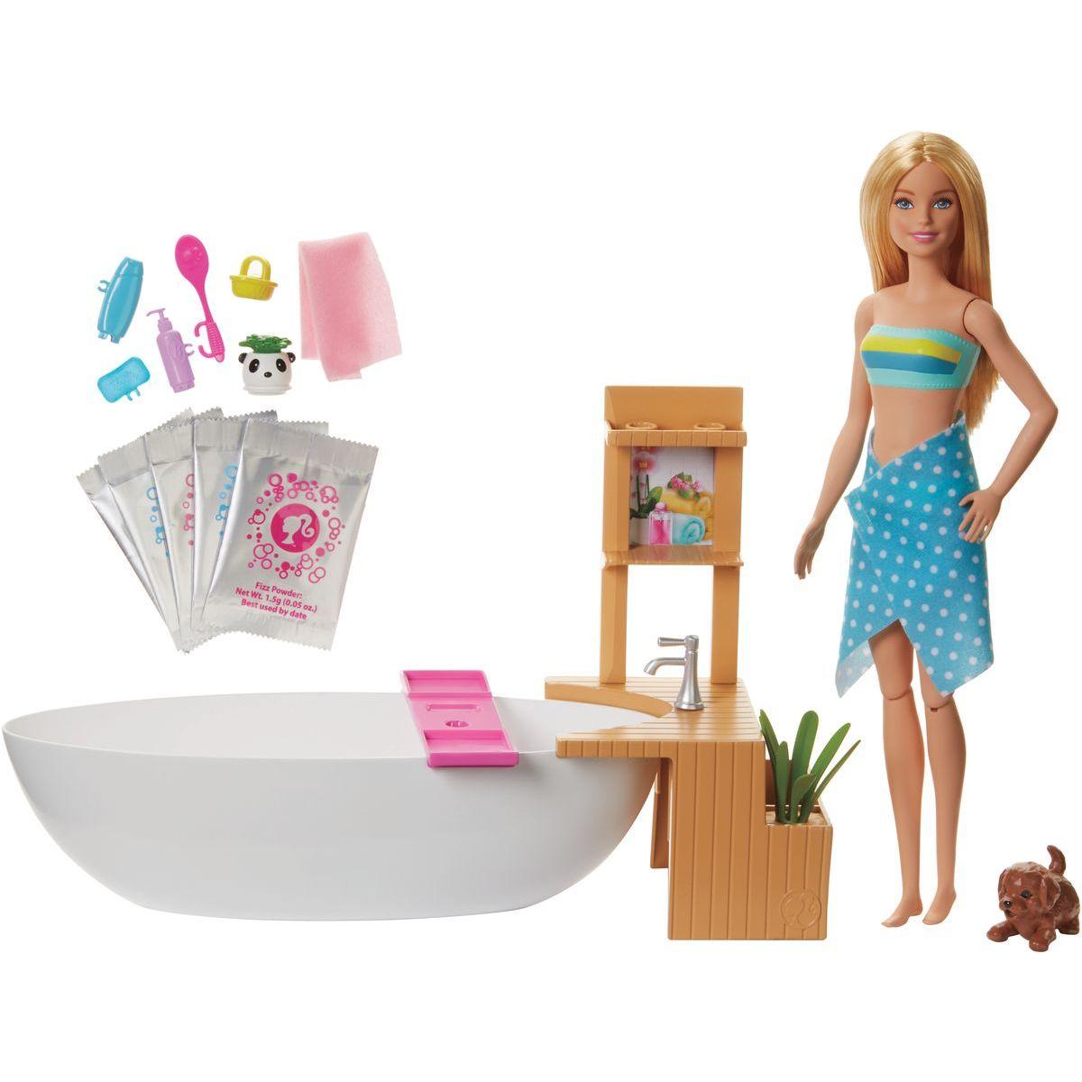 Mattel Barbie wellness bábika v kúpeľoch hernej set