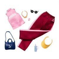 Mattel Barbie značkové oblečky a doplňky růžové tílko PUMA