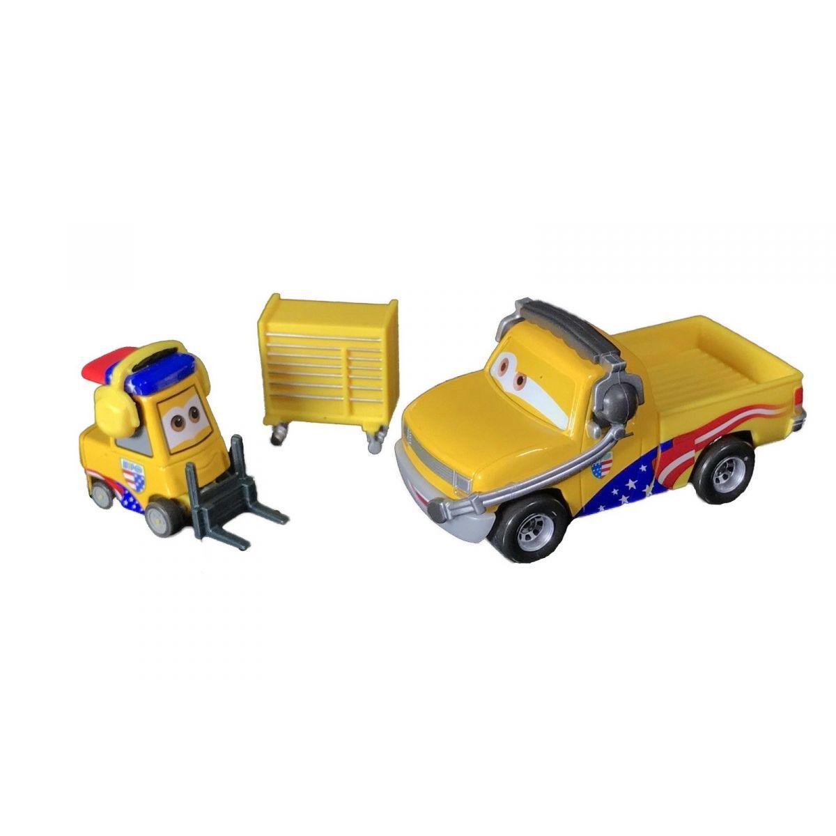 Mattel Cars 3 autá 2 ks Turbo Bullock a John Lassetire
