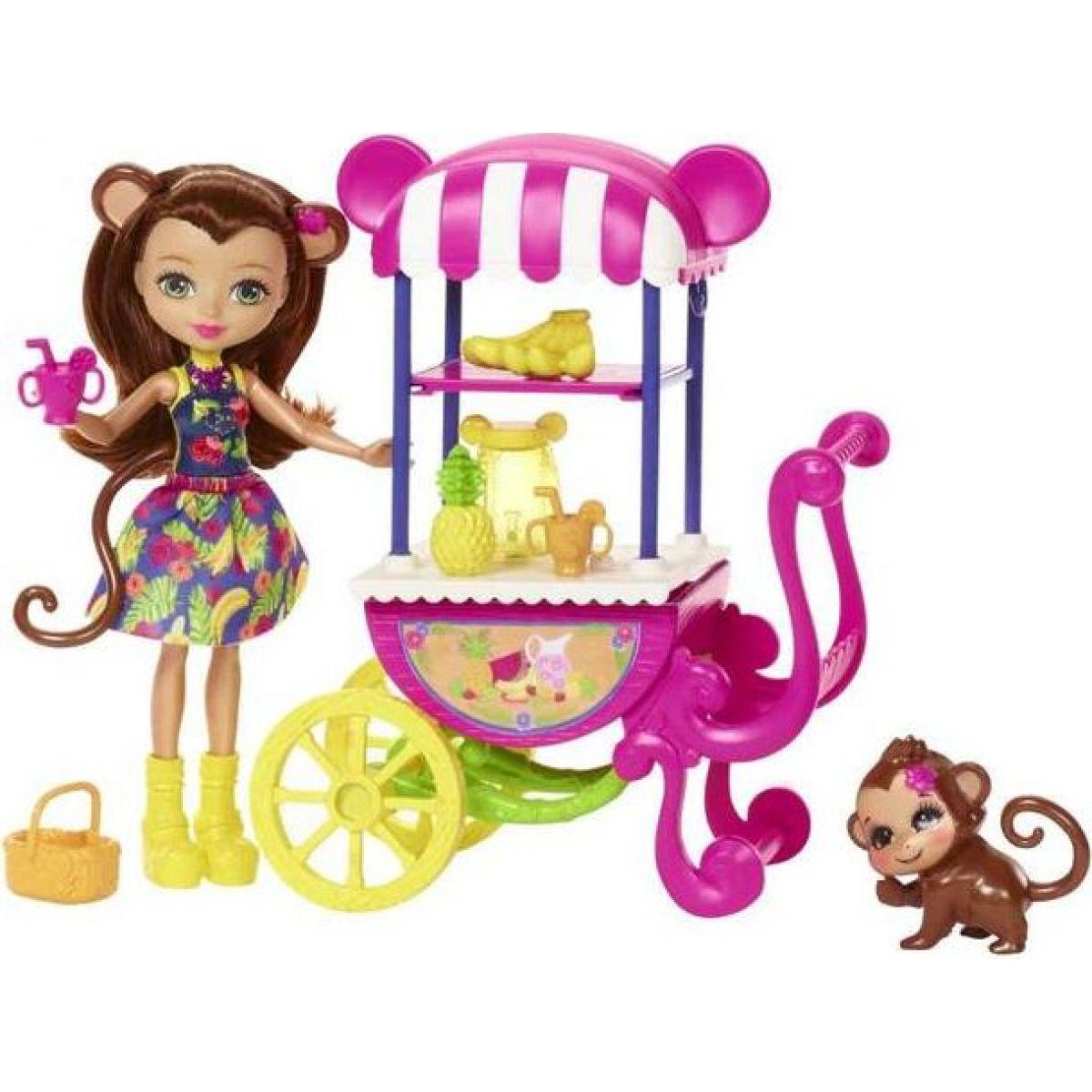 Mattel Enchantimals herný set na koloch Opička