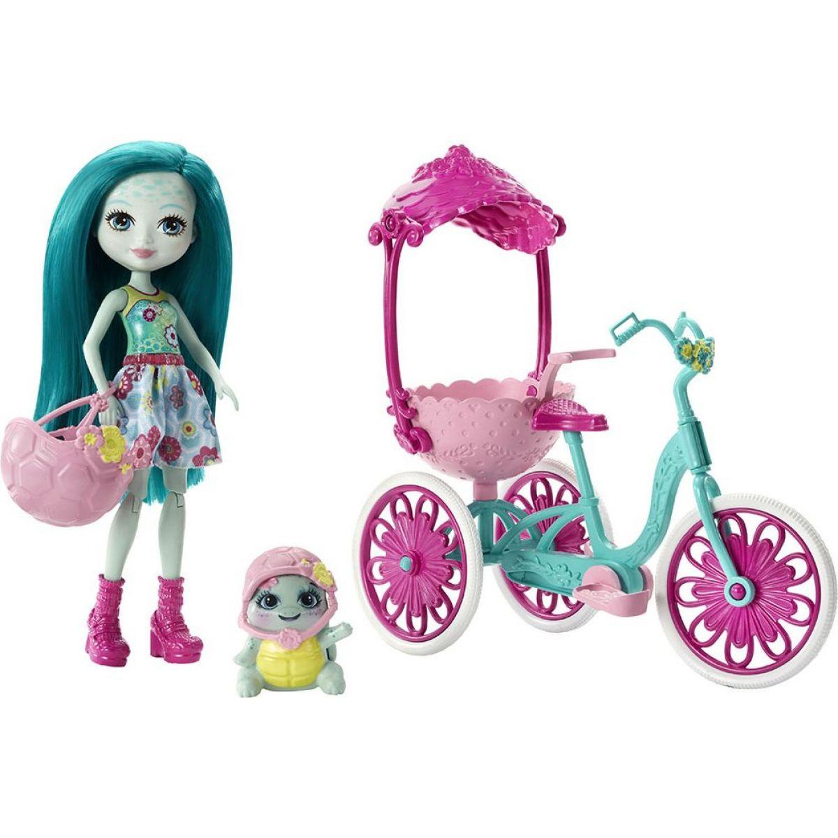 Mattel Enchantimals herný set na kolesách Korytnačka