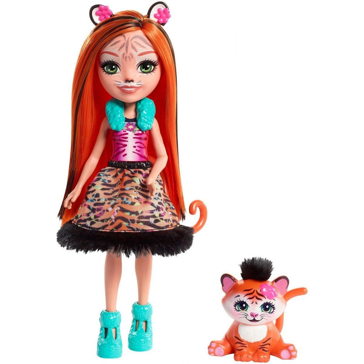 Mattel Enchantimals bábika a zvieratko Tanzie Tiger a Tuft