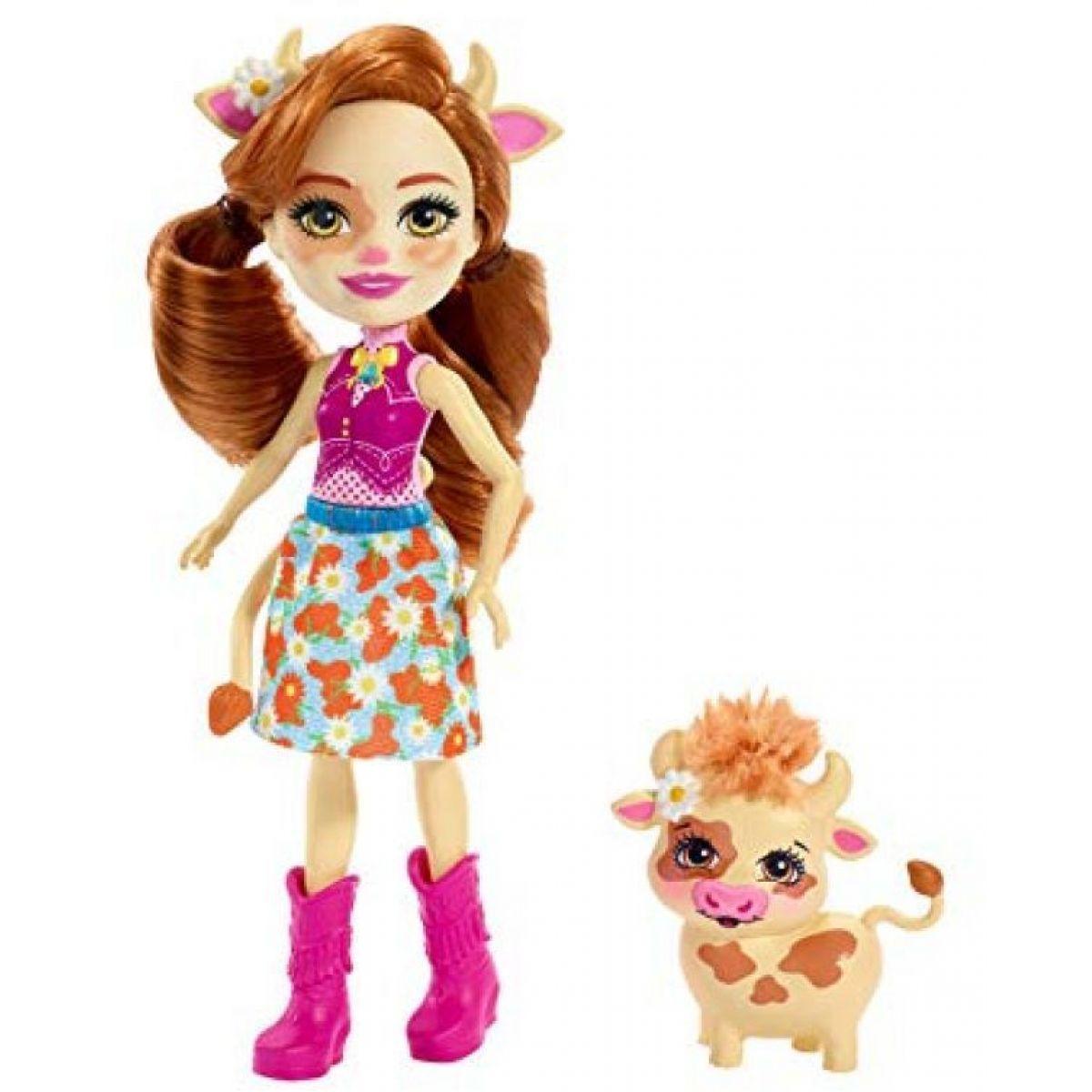 Mattel Enchantimals bábika sa zvieratkom Cailey Cow a Curdle