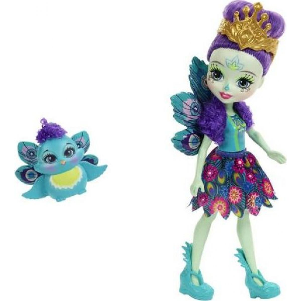 Mattel Enchantimals bábika Patter Peacock