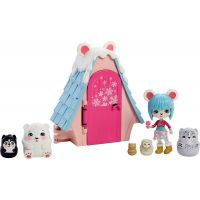 Mattel Enchantimals tajné útočiště nejlepších přátel Pawbry Polar Baear Chalet