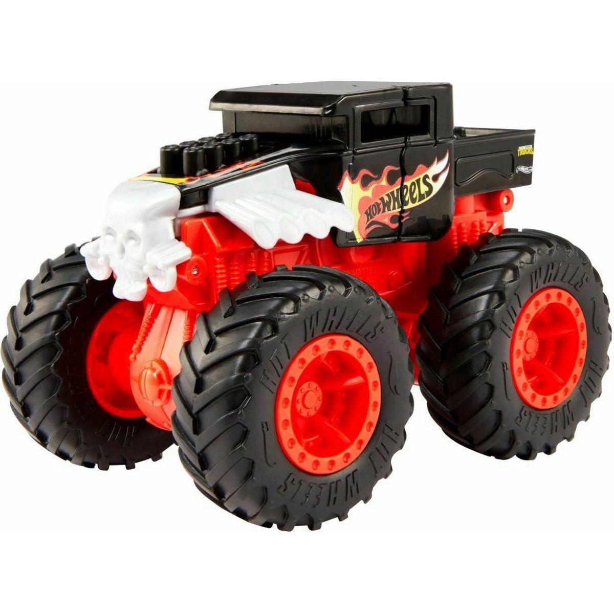 Mattel Hot Wheels monštier trucks veľká zrážka Bone Shaker
