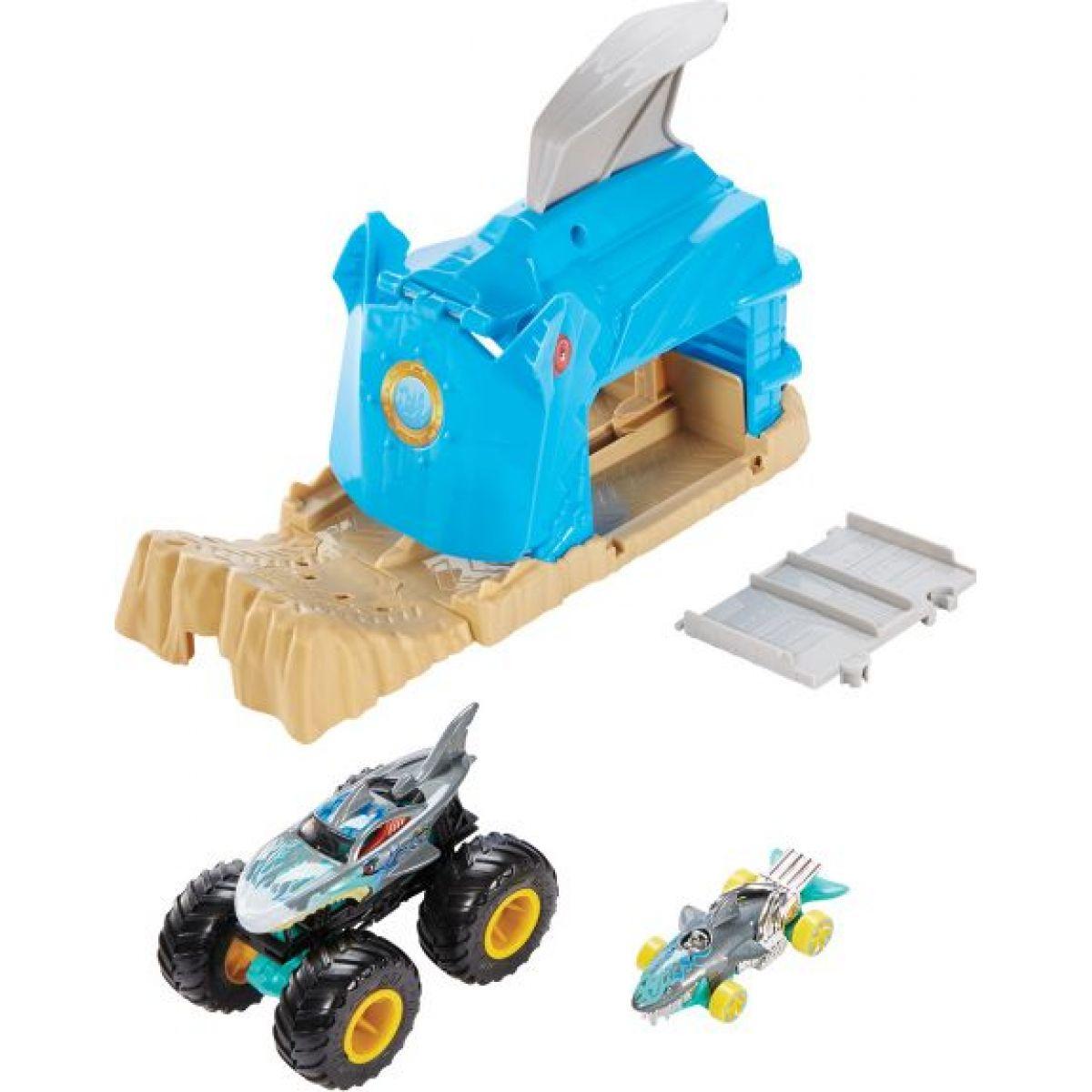 Mattel Hot Wheels monster trucks pretekárske herné set modrý