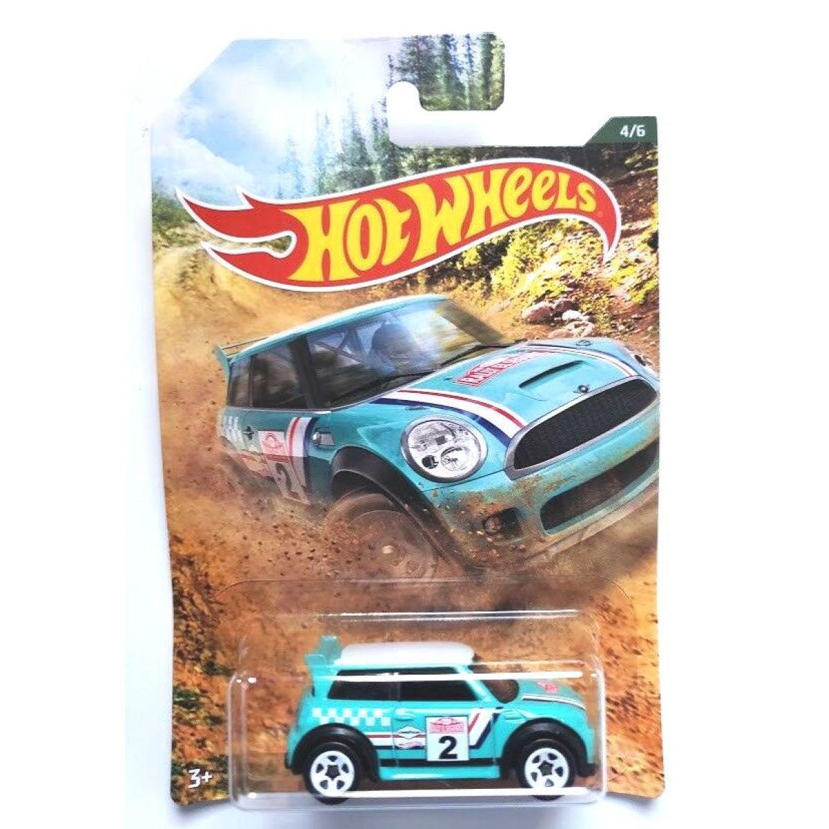 Mattel Hot Wheels tematické auto - klasická kolekcia Mini Cooper S Challenge