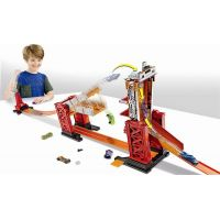 Hot Wheels track builder padací most 4