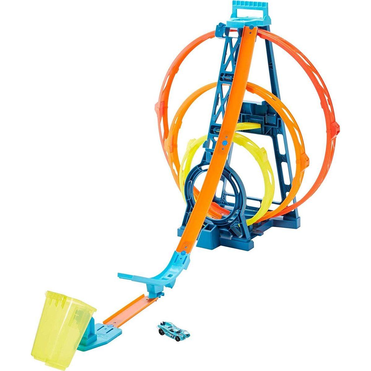 Mattel Hot Wheels track builder trojitá slučka