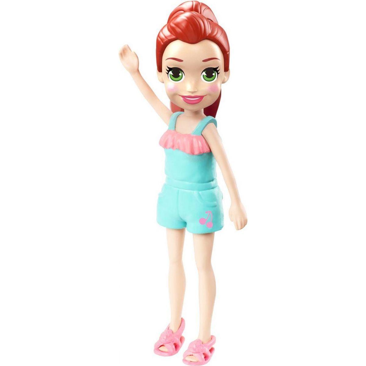 Mattel Polly Pocket štýlová bábika zelené šaty 00