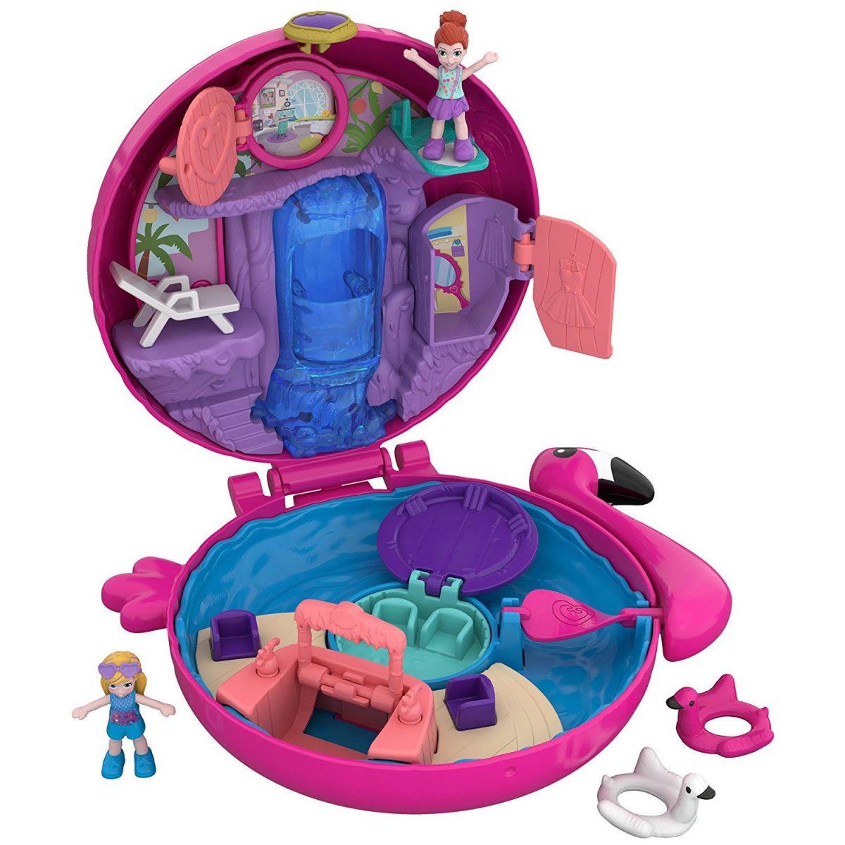 Mattel Polly Pocket svet do vrecka Flamingo Floatie 38