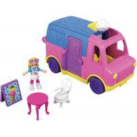 Mattel Polly pocket vozidlo zmrzlinový vůz