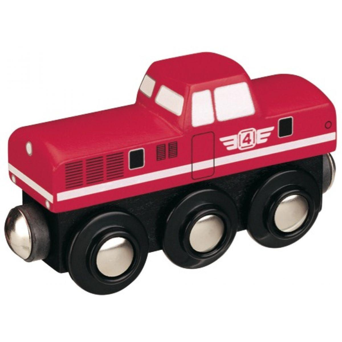 Mašinka Tomáš - lokomotíva dieselová červená