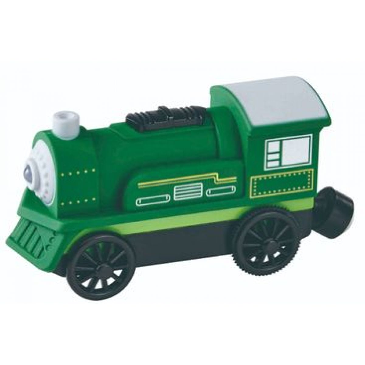 Maxim Elektrická lokomotíva zelená 50403