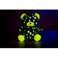 Medvídek svítící ve tmě šedo - zelený 2
