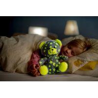 Medvídek svítící ve tmě šedo - zelený 3