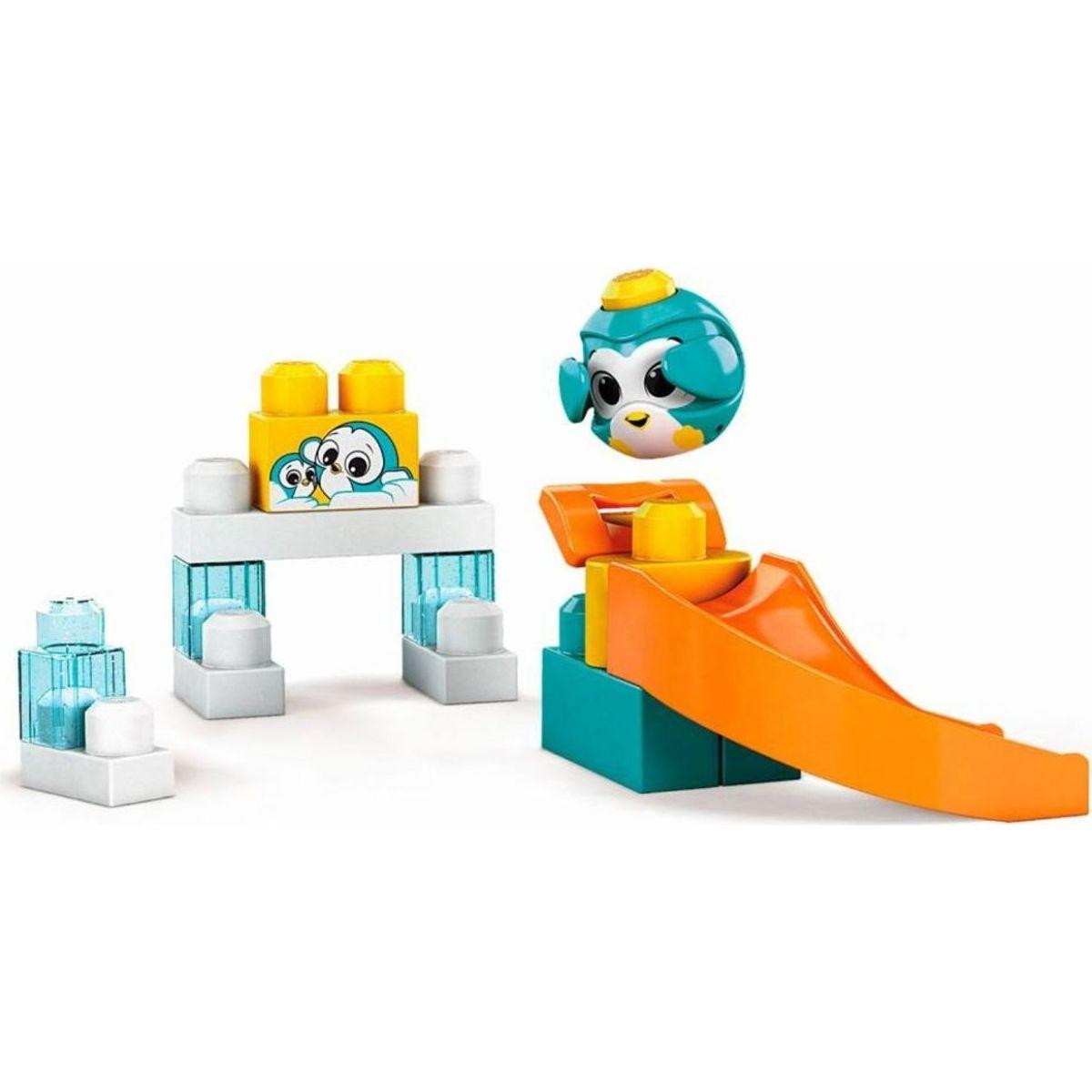 Mega Bloks Peek a Blocks veľká šmykľavka - tučniak