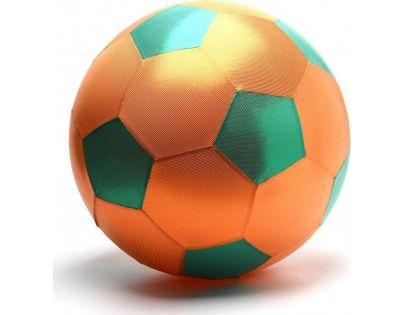 Mega míč textilní lesklý oranžovo-zelený