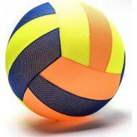 Mega míč textilní modro-oranžovo-žlutý