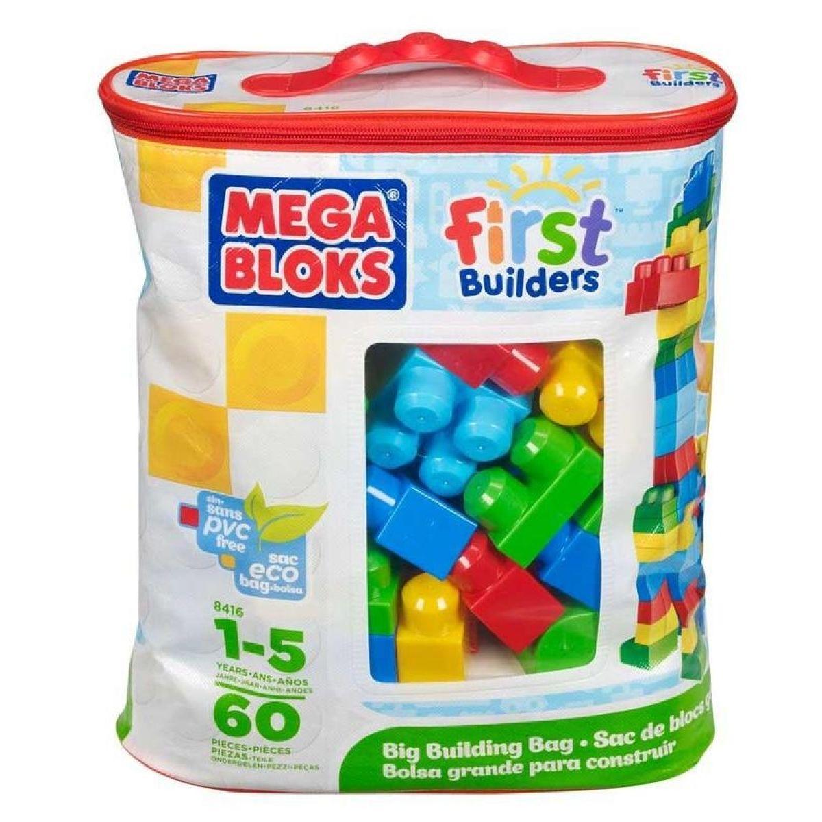Mega Bloks 08416 Kostky v plastovém pytli, 60dílů