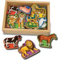 Melissa & Doug Drevené magnetky zvieratka 20 ks