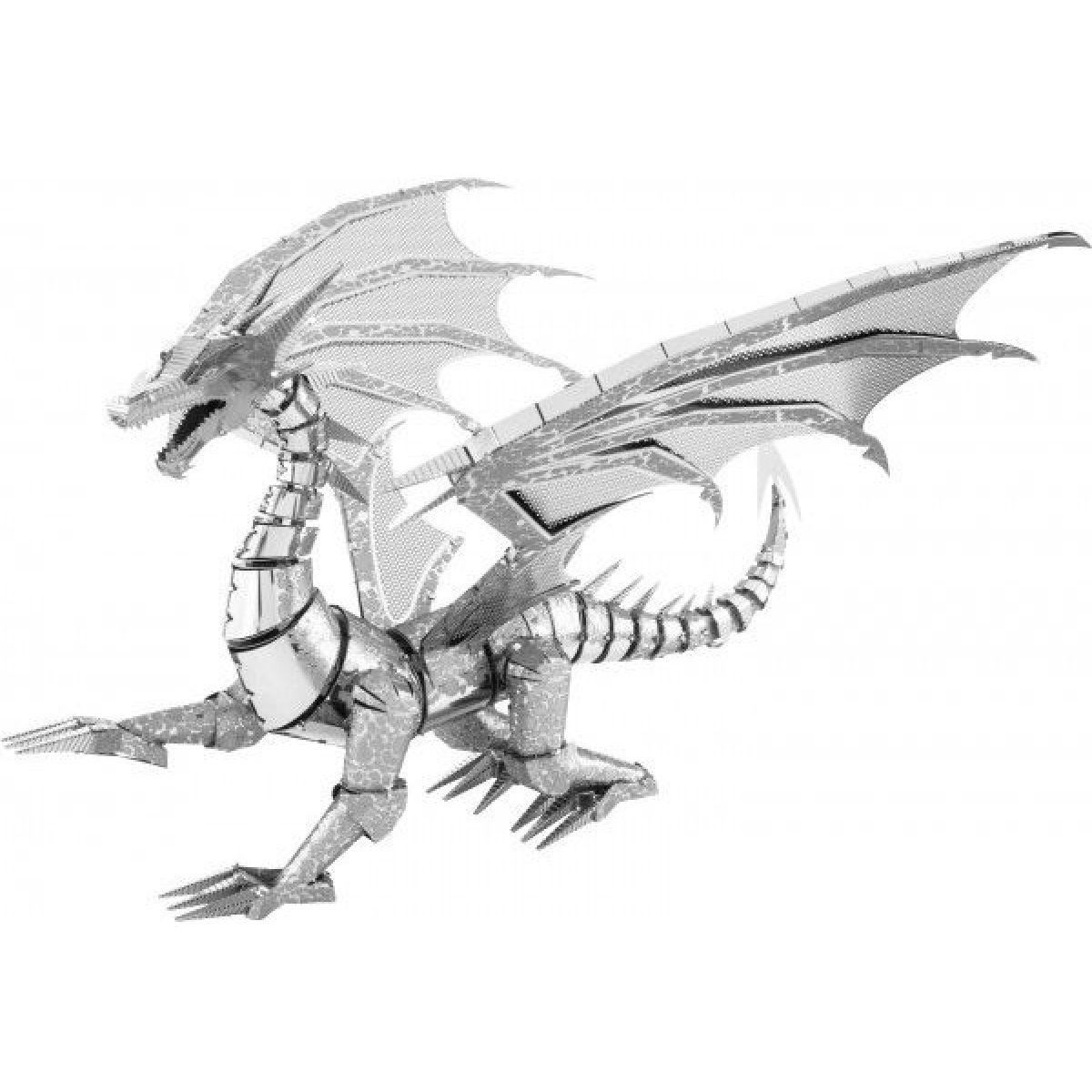 Metal Earth BIG Silver Dragon ICONX
