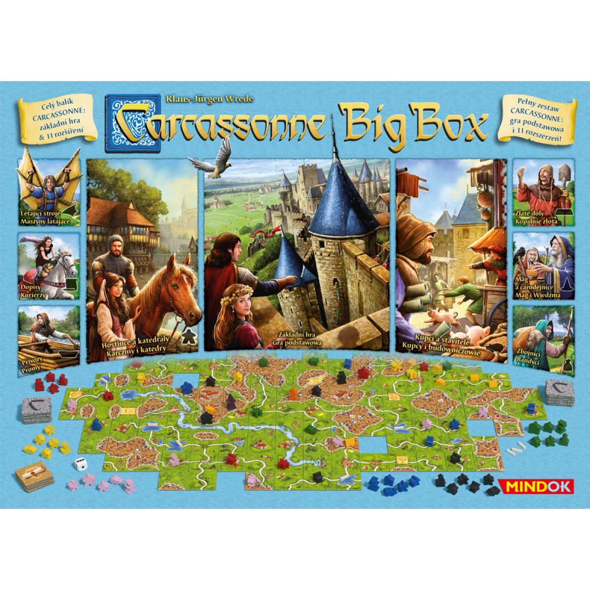 Mindok Carcassonne: Big Box 2017