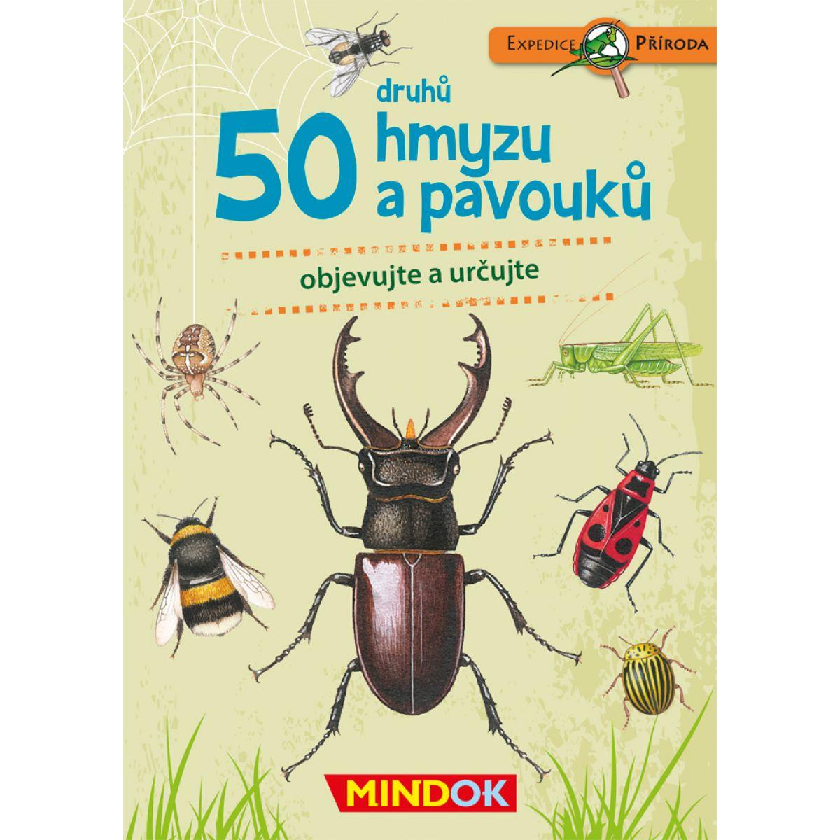 Mindok Expedícka príroda 50 druhov hmyzu a pavúkov