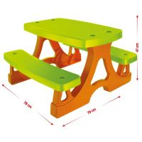 Mochtoys Piknikový stolík s lavičkami 2