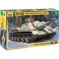 Zvezda Model Kit military 3691 Soviet tank Destroyer SU-122 1:35