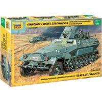 Zvezda Model Kit tank 3588 Sd.Kfz.251 10 w 3.7cm PAK RR 1:35