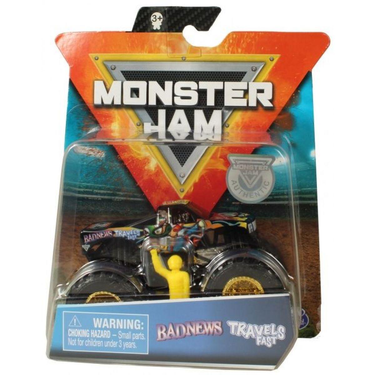 Monster Jam Zberateľská Die-Cast autá 1:64 Badnews Travels Fast