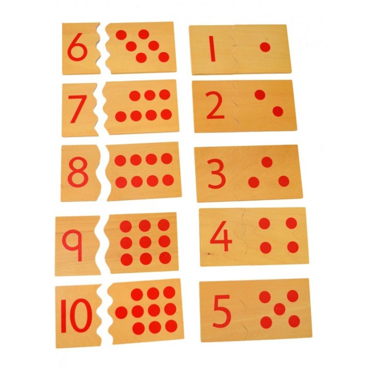 Montessori Čísla a bodky puzzle