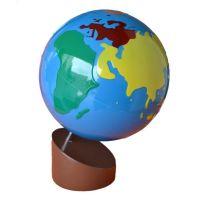 Montessori Glóbus farebné kontinenty