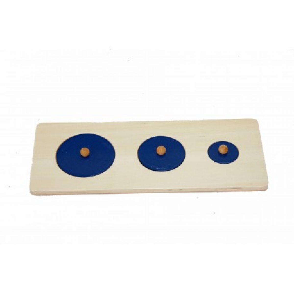 Montessori Puzzle Tri kruhy