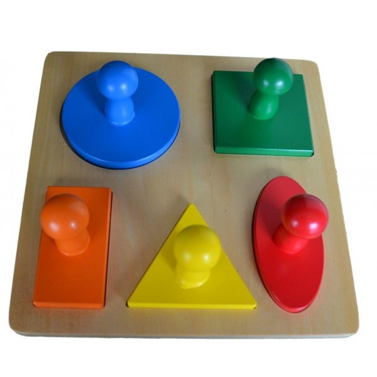 Montessori Vkladacie puzzle geometrické tvary