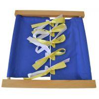 Montessori Zapínací rám - šnurovanie mašle