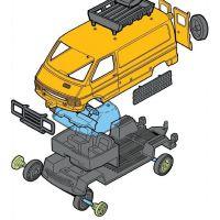 Monti 04 Kenya Safari Renault Trafic 1:35 2