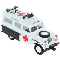 Stavebnica Monti system 35 UNPROFOR Ambulancie Land Rover mierka 1:35