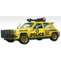 Stavebnice Monti 27 Policie Renault Trafic v krabici 22x15x6cm 1:35
