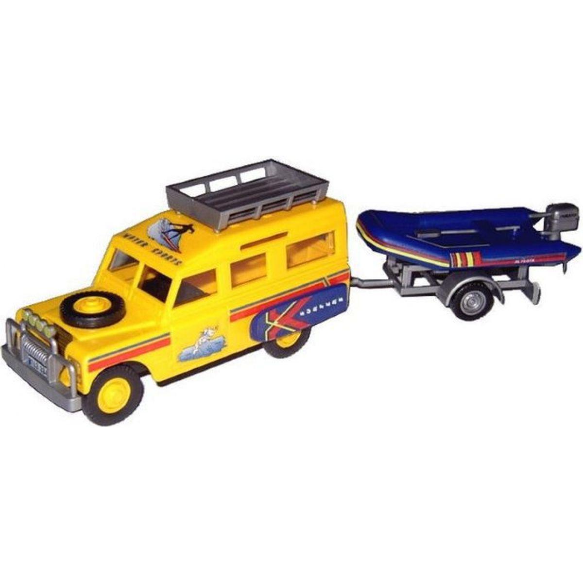 Monti 63 Land Rover vlek s loďkou člunem 1:35