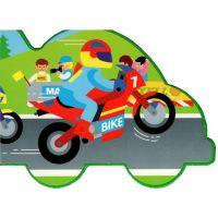 Motoknížka Motorky a auta leporelo 4