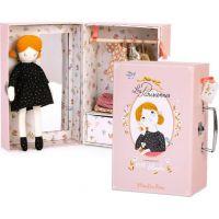 Moulin Roty Bábika Blanche v kufríku s oblečením