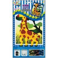 Mozaika se třpytivými flitry zvířátka 20,5x17cm žirafa