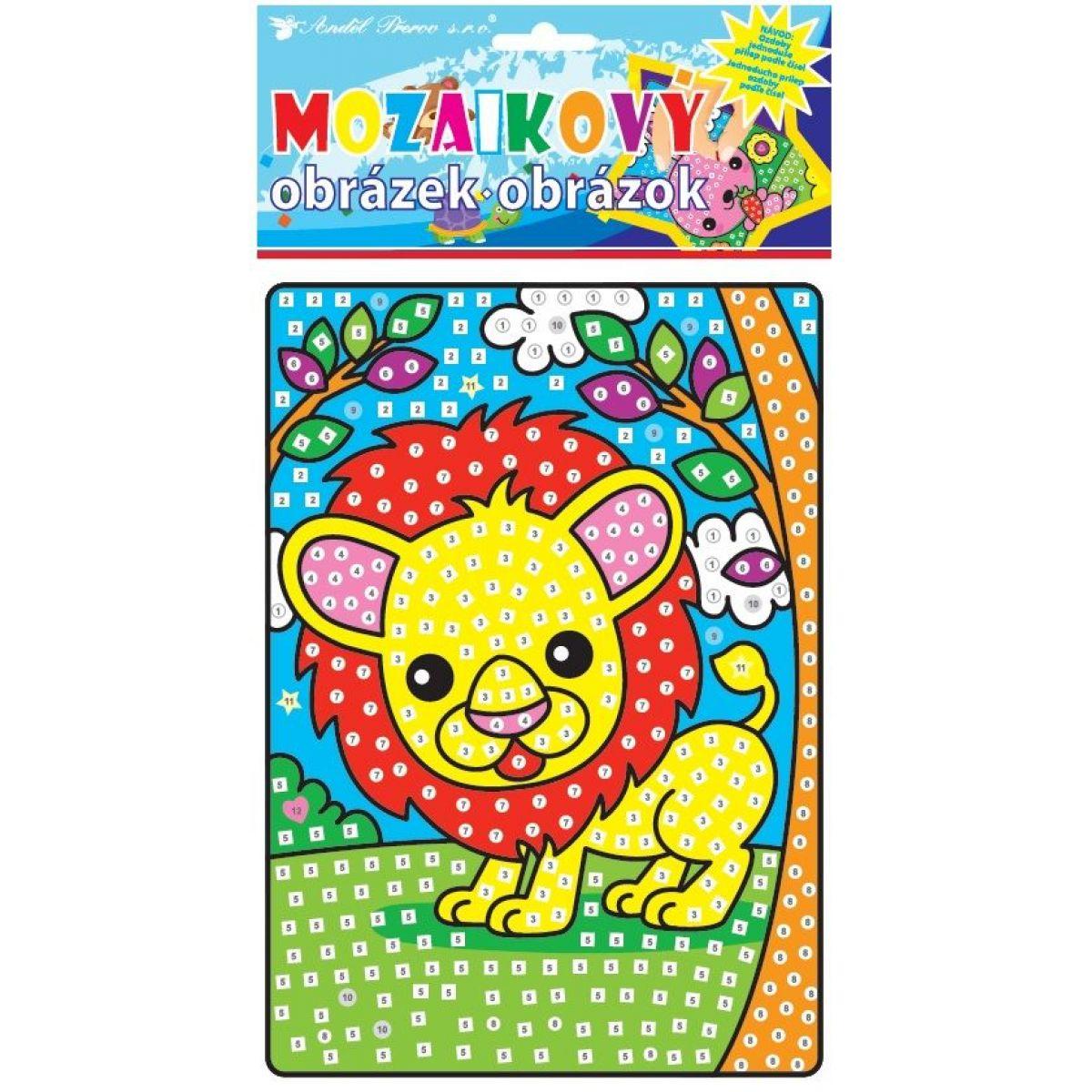 Mozaika zvieratka 23x16 cm lev