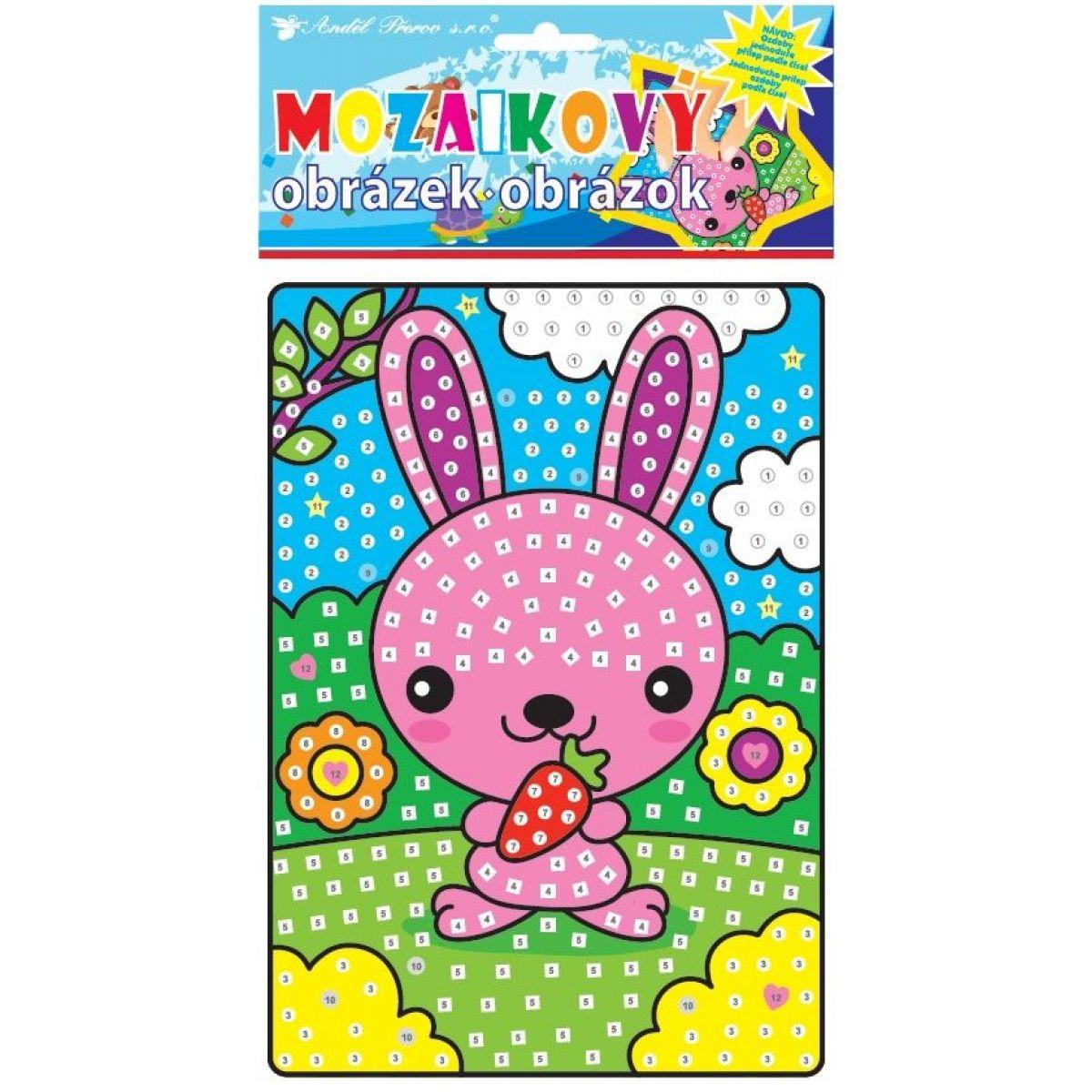Mozaika zvieratka 23x16 cm zajačik
