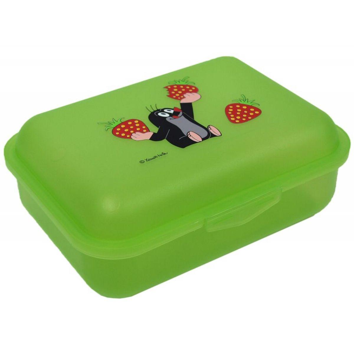 MÚ Brno Krtek Desiatový box jahody zelený