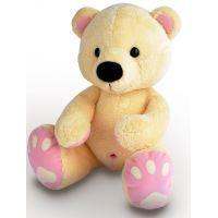MÚ BRNO Medveď Pupík béžovoružový 60cm